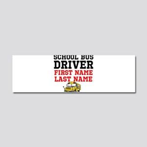 School Bus Driver Car Magnet 10 x 3